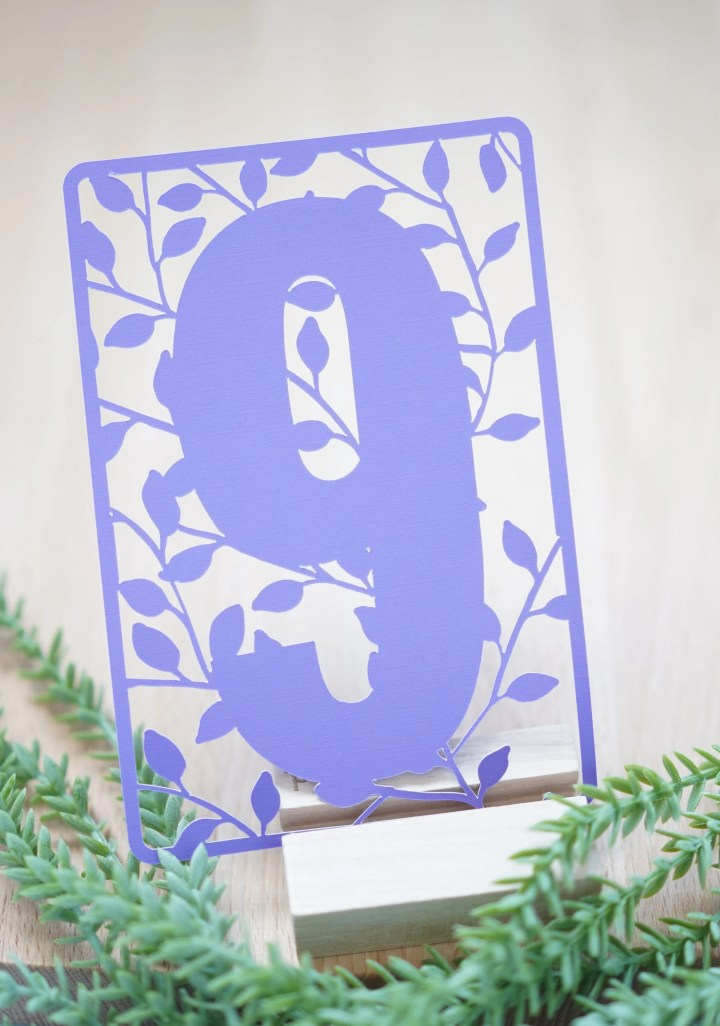 Free Cricut Table Numbers Template Set