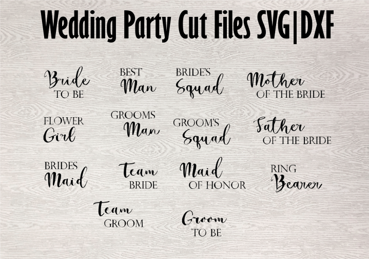 bridal party free svg