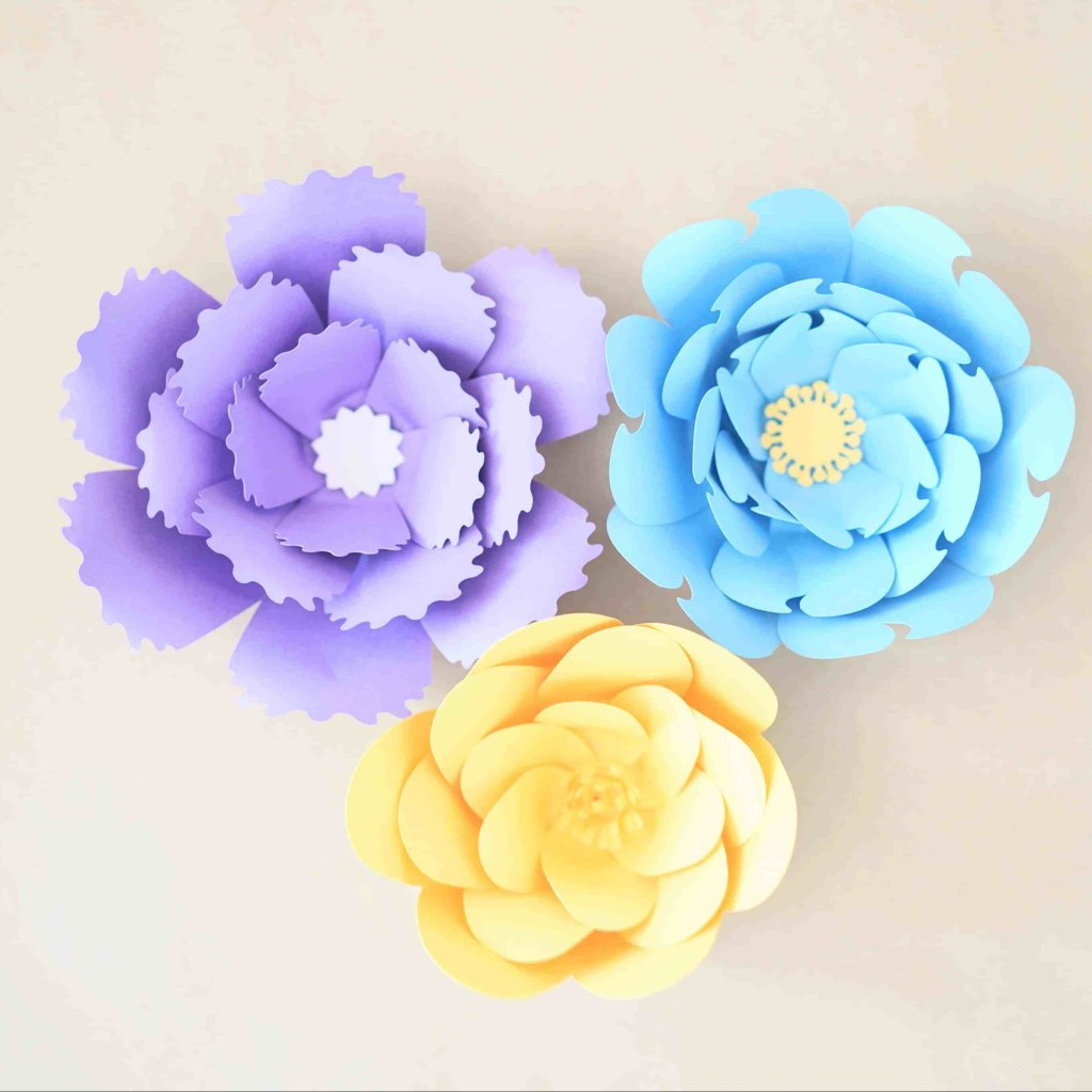 9 Giant Paper Flower With Fun Centers Domestic Heights