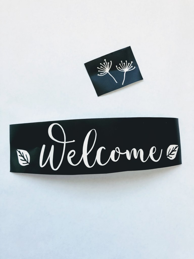 chalkboard signs with vinyl stencil