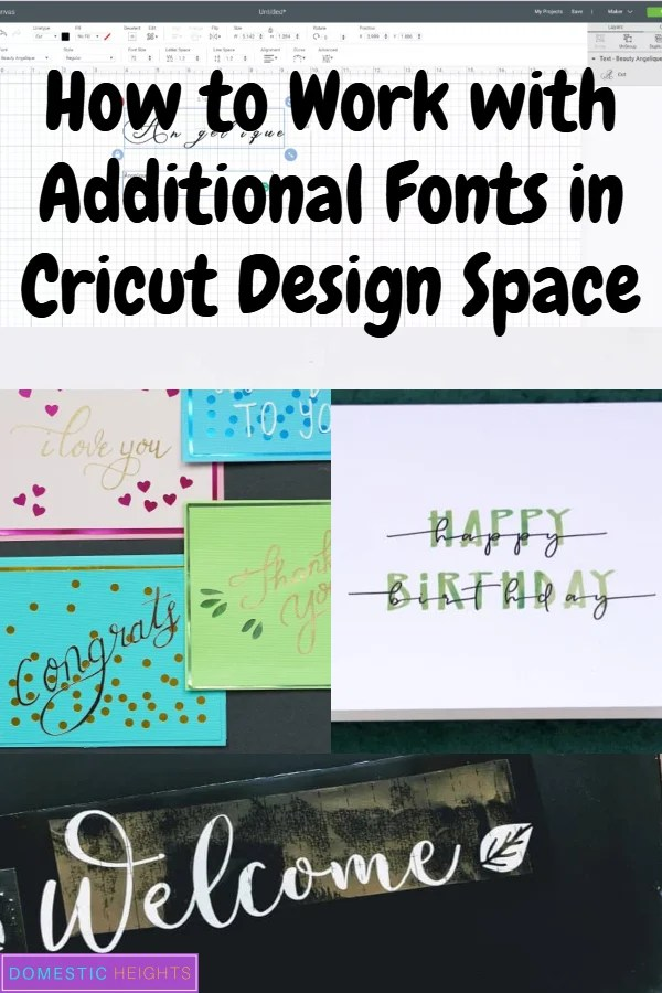 writing fonts for cricut