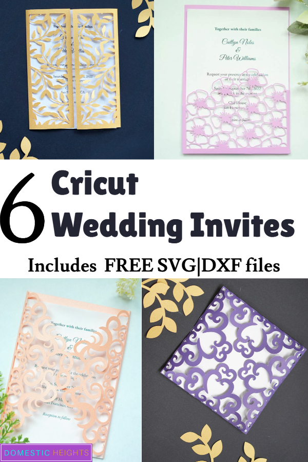 6 Free Cricut Wedding Invitations Svg Templates Domestic Heights