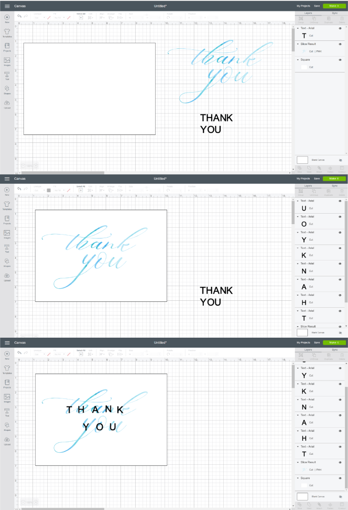 How to put words inside a shape in Cricut Design Space