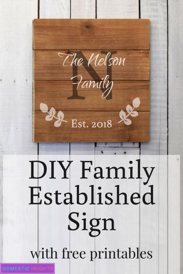 diy last name sign