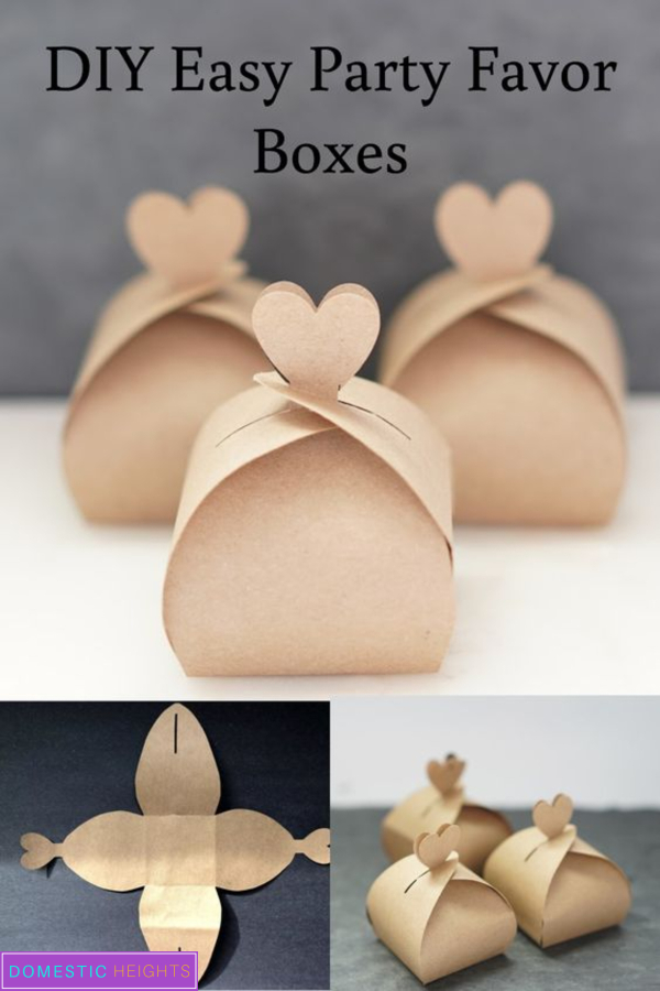 free wedding favors box template and tutorial