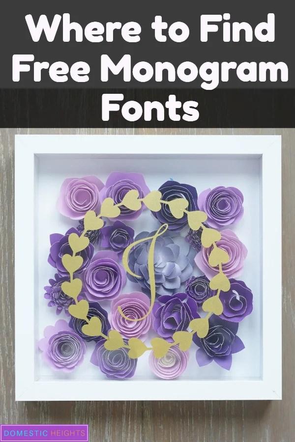 free monogram fonts for cricut