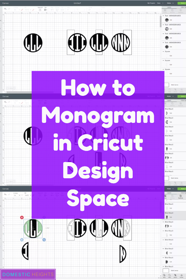 how to slice monogram in cricut,