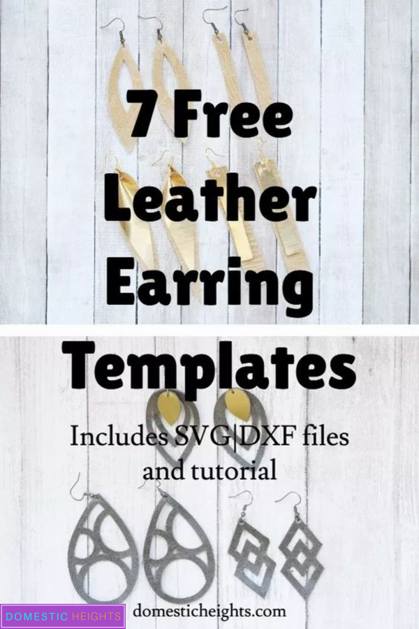 free leather earring svg cricut cut files