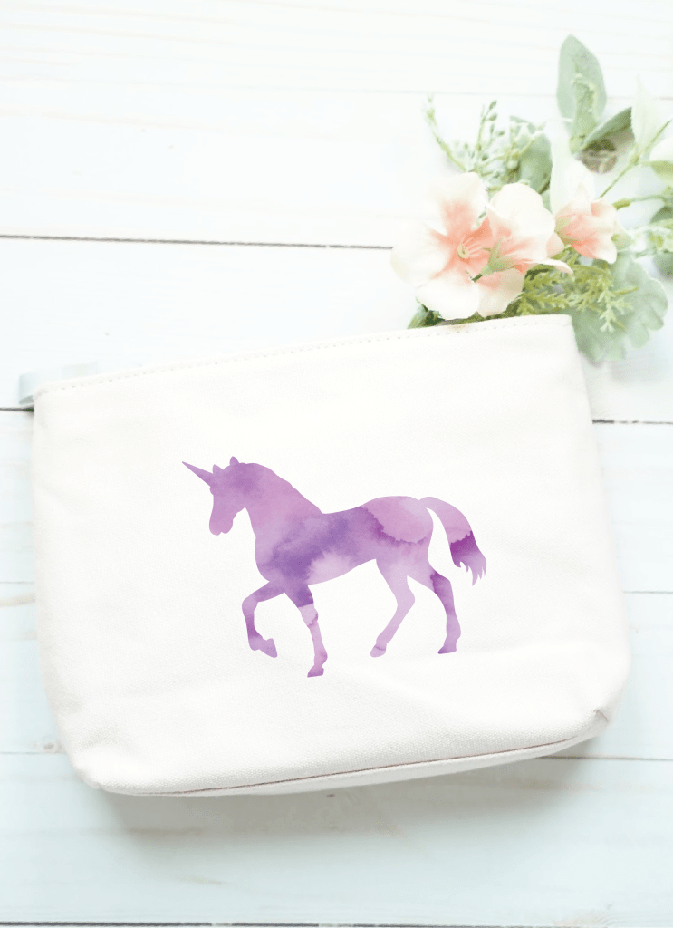 cricut print and cut iron on project tutorial, free unicorn watercolor cut file
