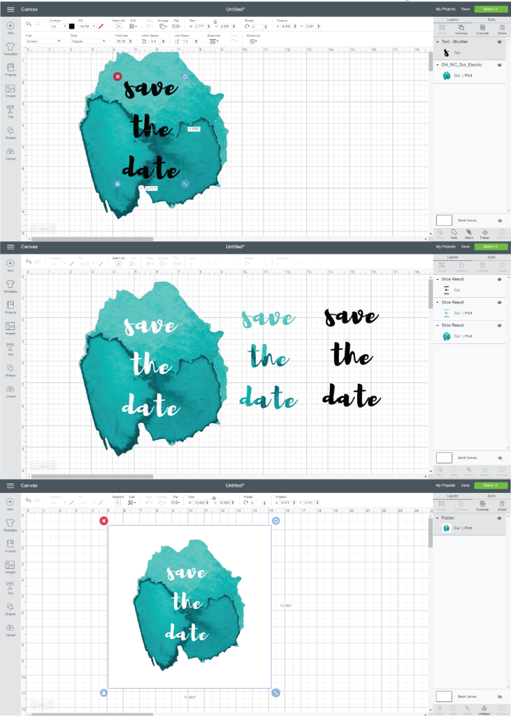 how to slice Cricut design space