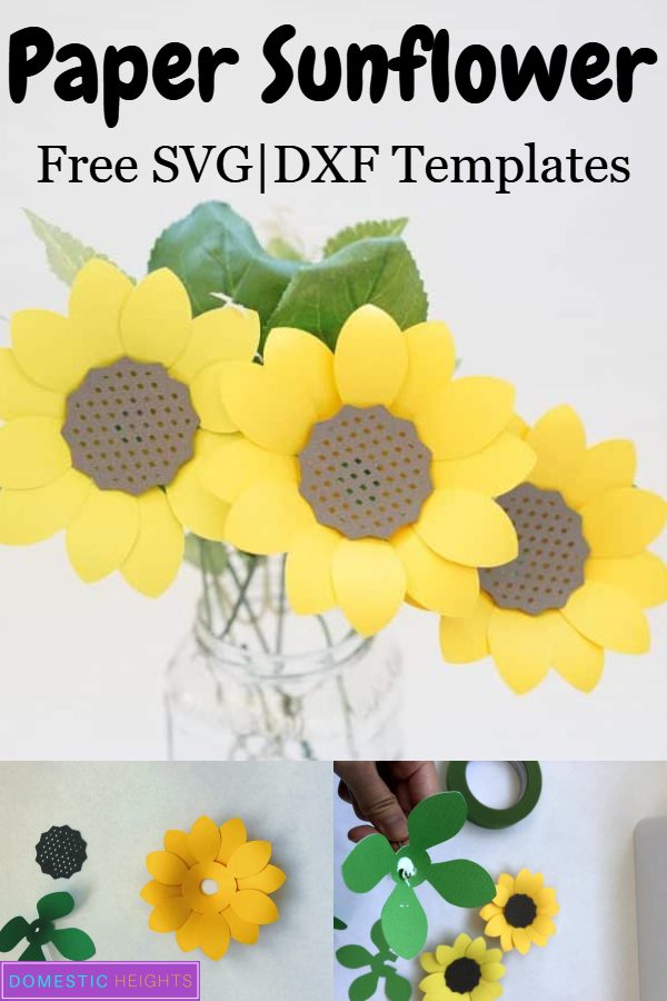 free paper flower template svg, free paper flower svg, free flower template sunflower
