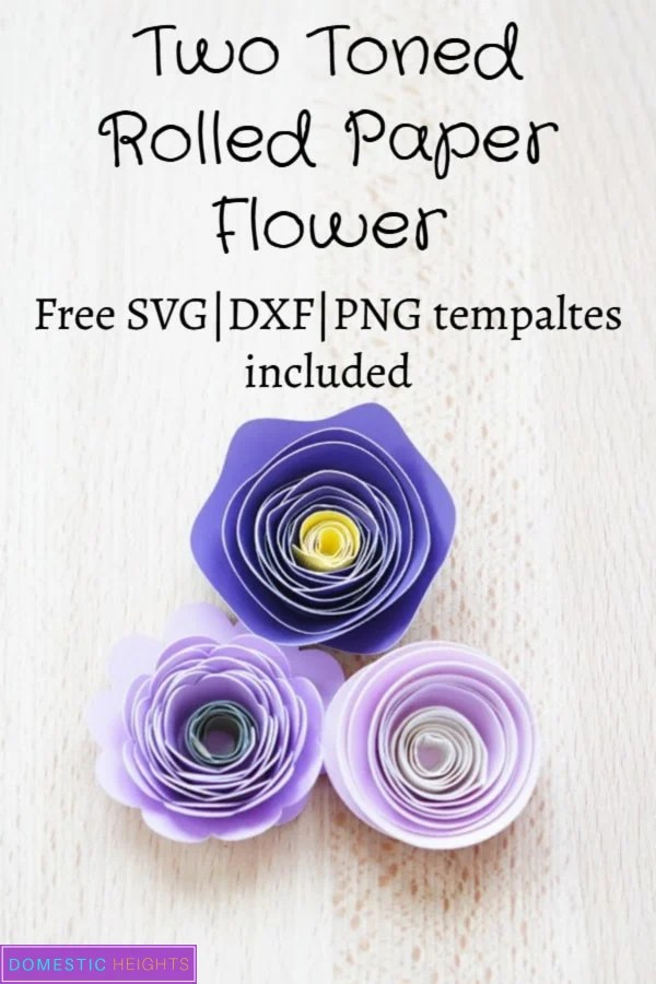 free rolled paper flower svg template