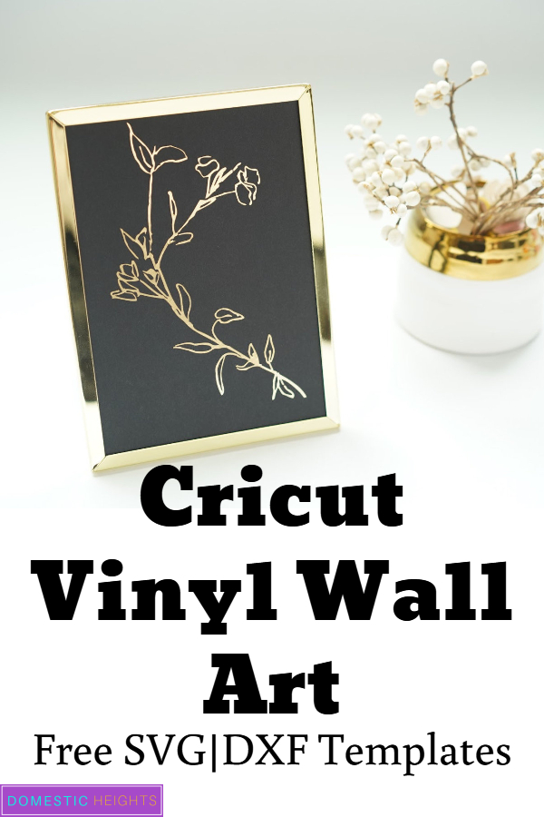 cricut floral home decor project with free svg templates