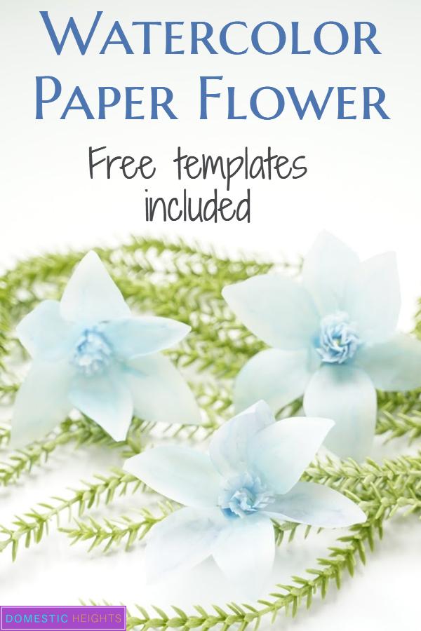 free paper flower tempalte