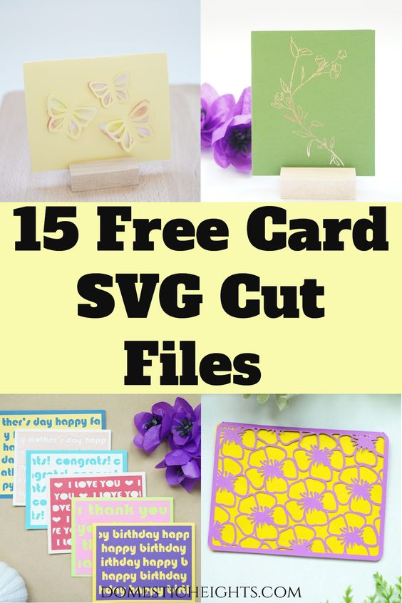 free cricut card project SVG cut files