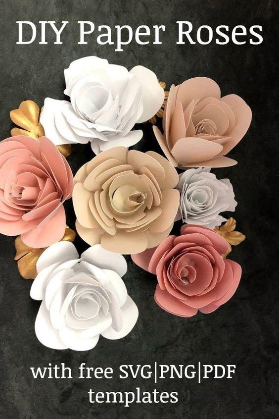 DIY Paper rose flower svg