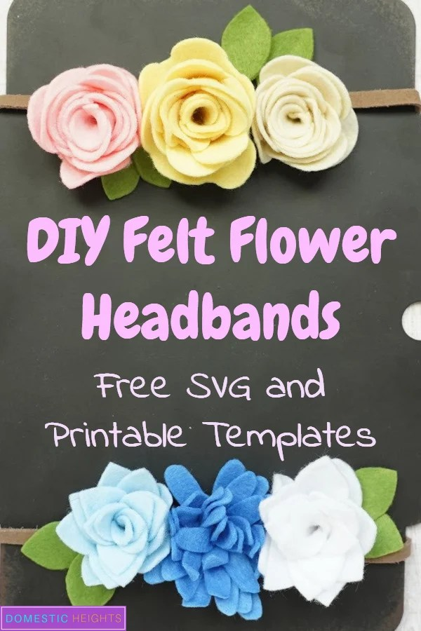 How to Make Felt Flowers for headbands