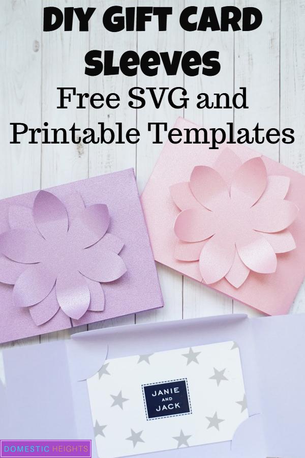 free gift card holder svg