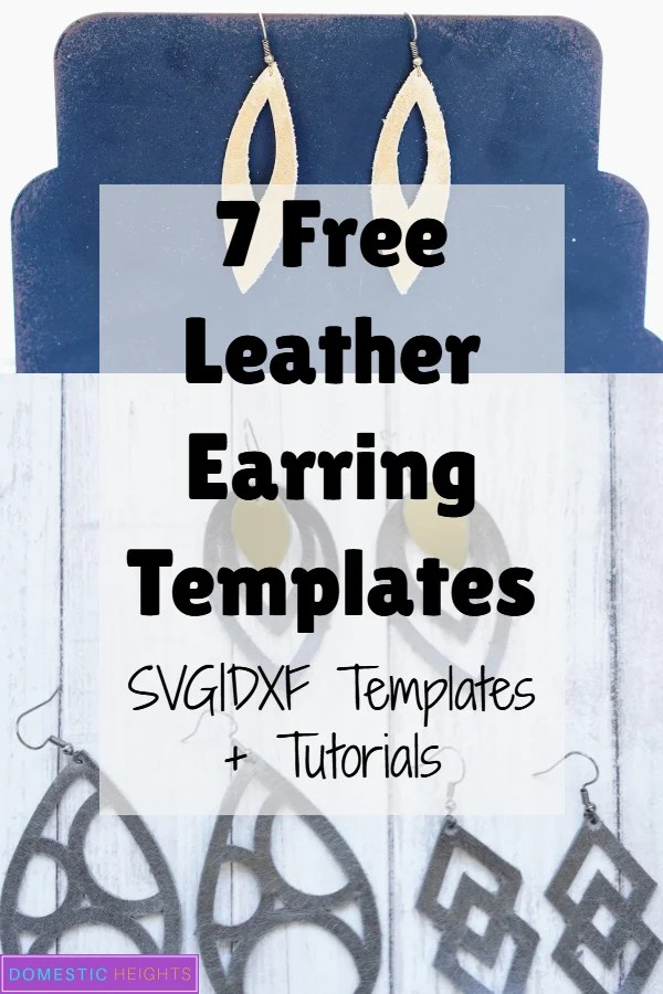 free leather earring svg cut files and tempaltes, cricut project