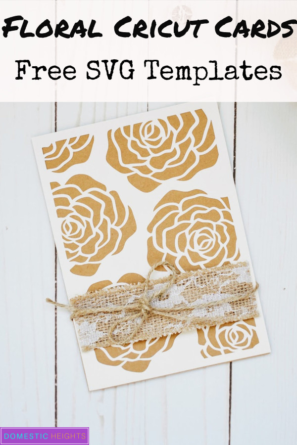 rustic cricut card free svg