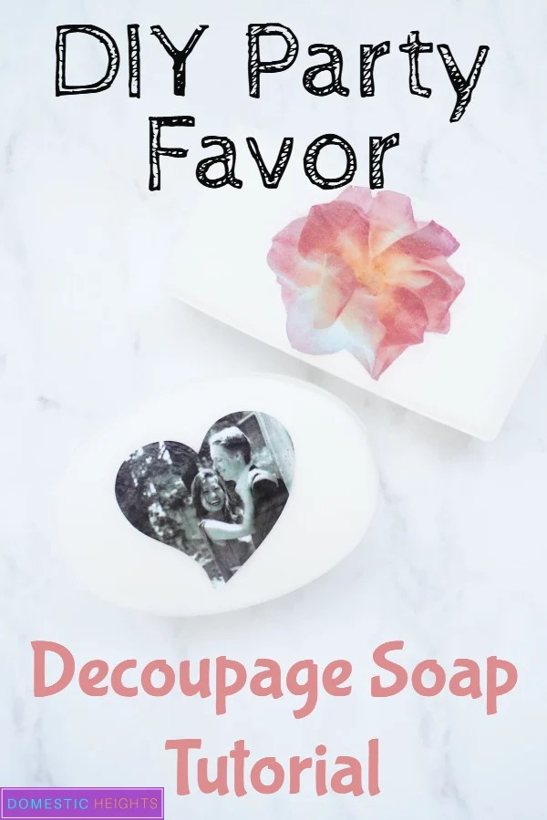decoupage soap