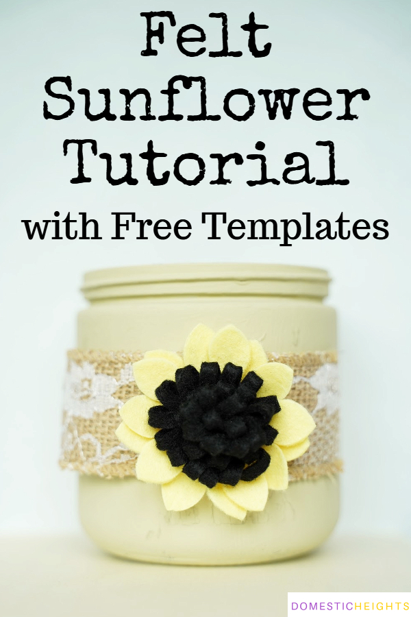 how to make felt sunflowers