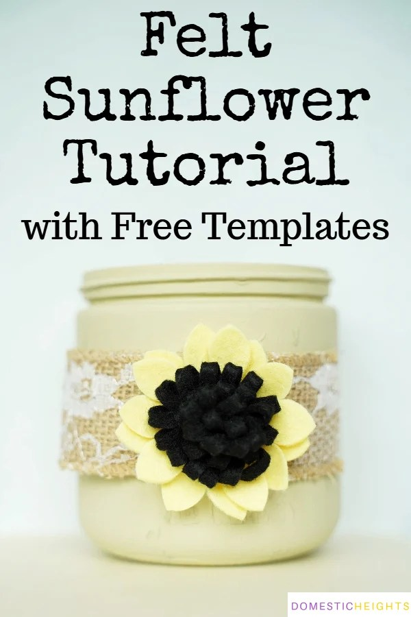 how to make felt sunflowers