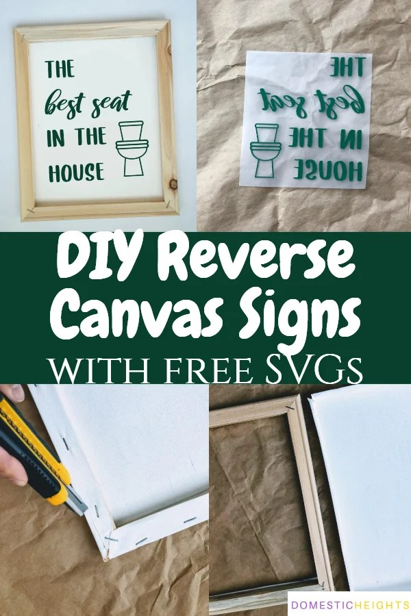 reverse canvas with vinyl