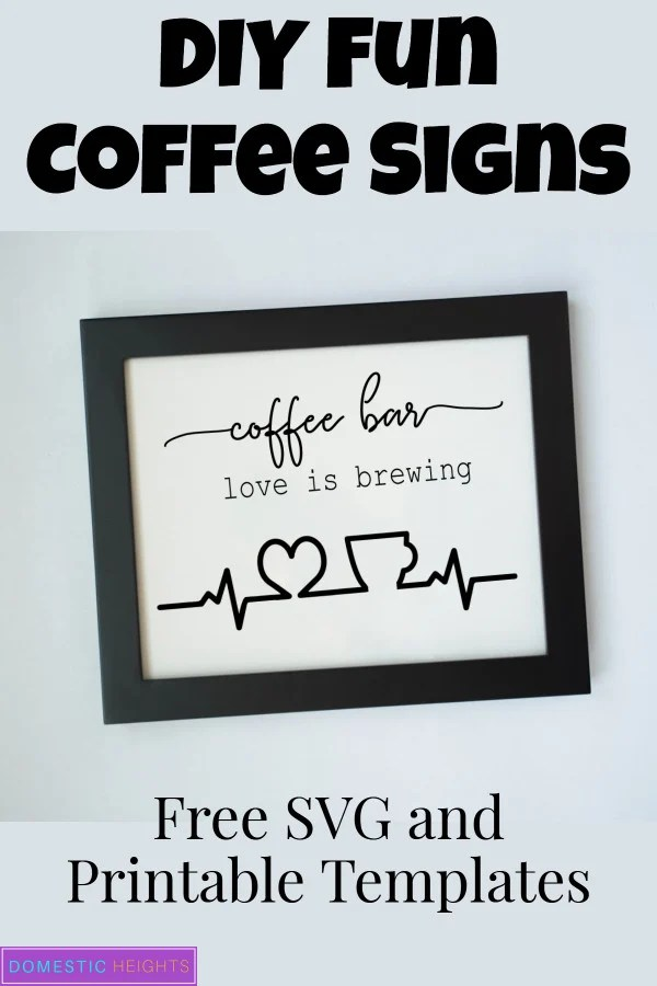 DIY coffee sign ideas free printable