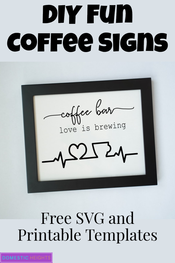 DIY coffee sign ideas free printable