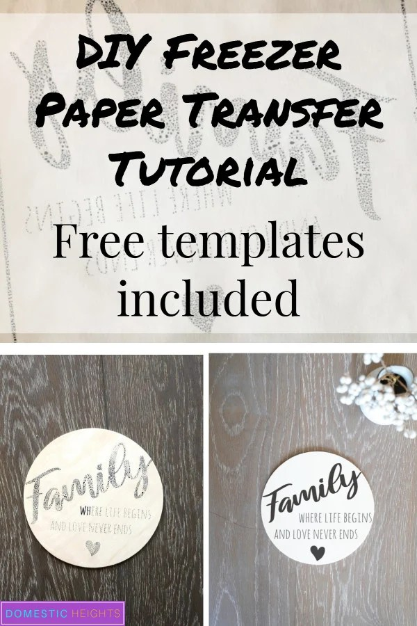 freezer paper transfer craft ideas, printing on wood signs tutorial