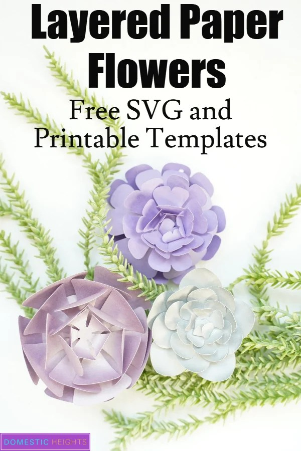five petal paper flower template