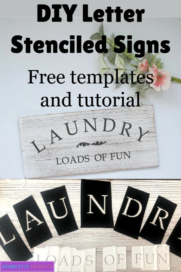 free printable letter stencils for painting, vintage alphabet on wood