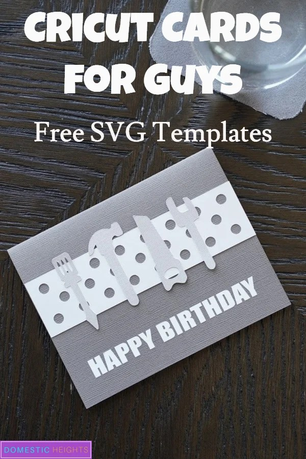 Cricut card SVG for guys