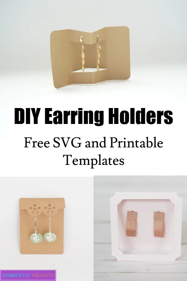 Cricut earring display SVG