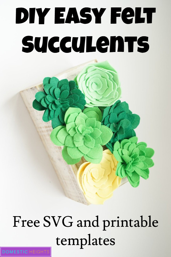 felt succulents project