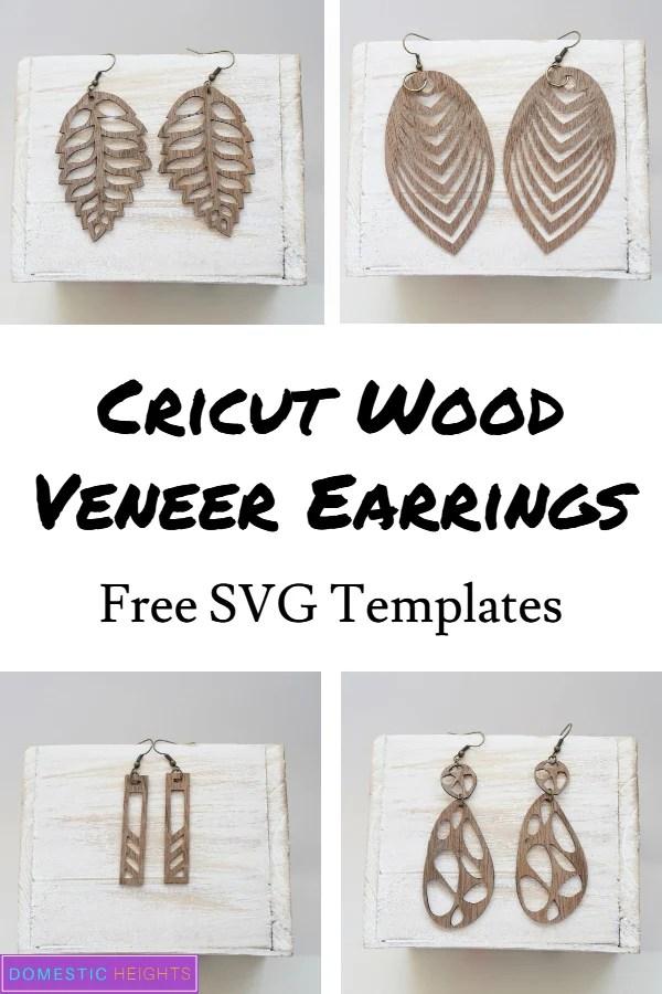 Cricut explorer wood earrings