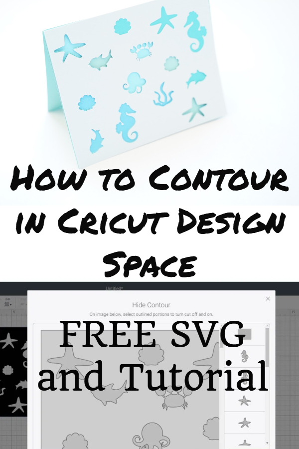 how to contour in Cricut design space