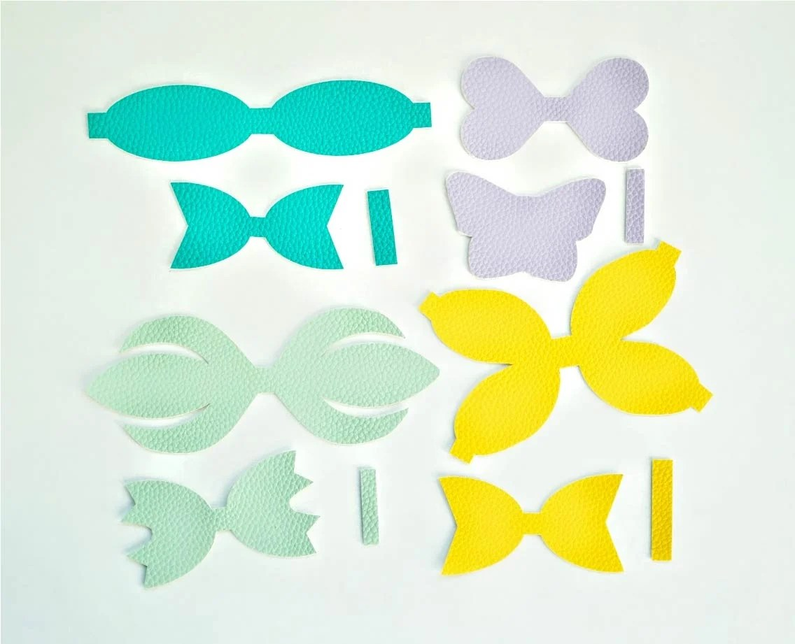 Bow template SVG DIY leather bow template Bow template for Cricut Big hair bow svg template