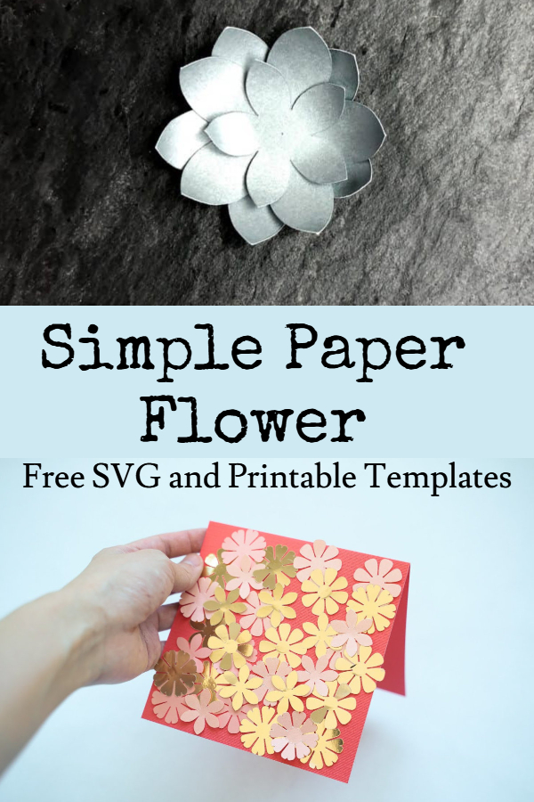 simple paper flower SVG