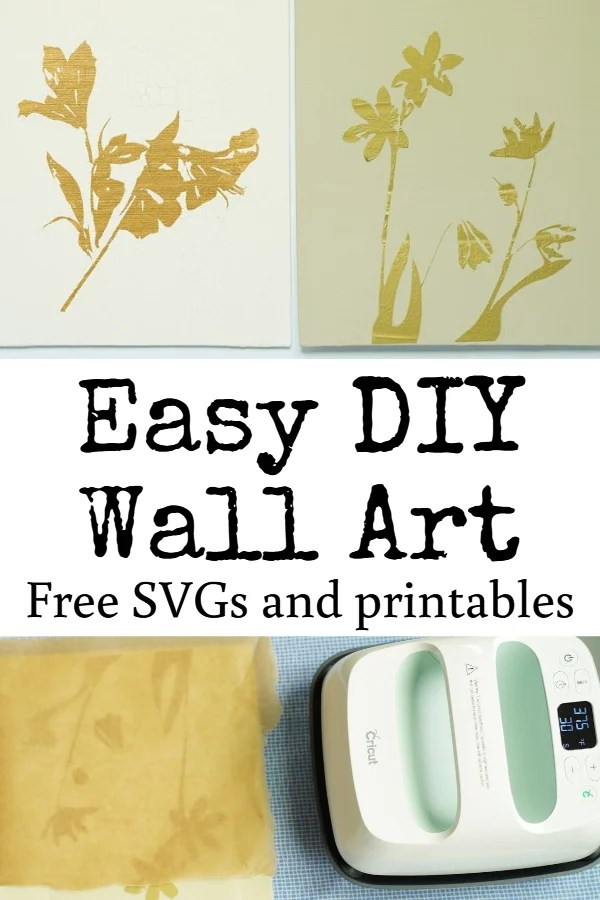 easy cricut home decor project