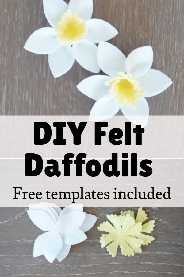 felt daffodil flower template