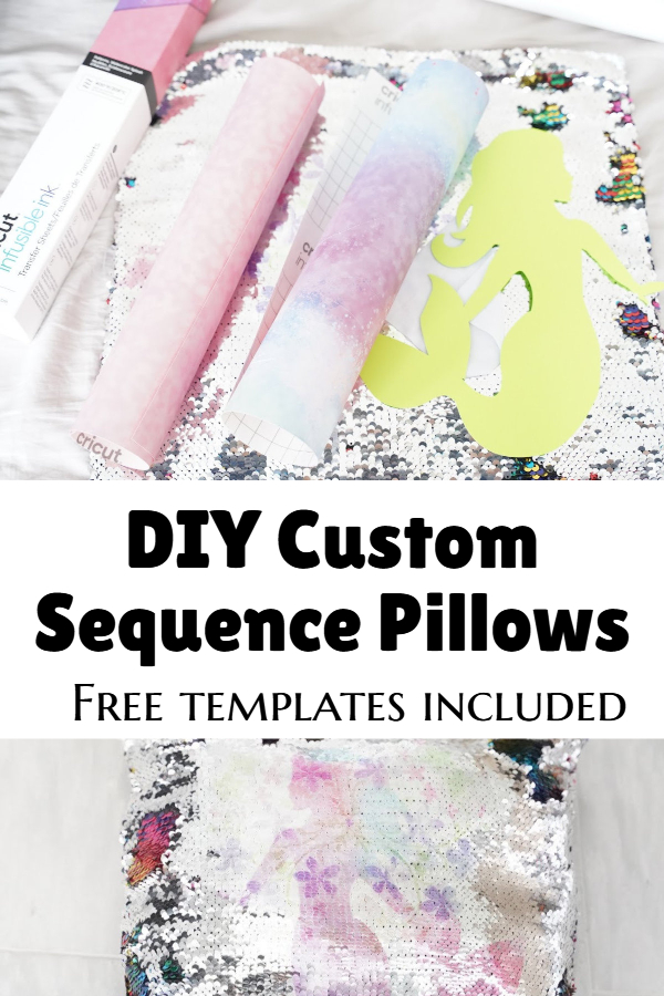 DIY custom sequence pillow