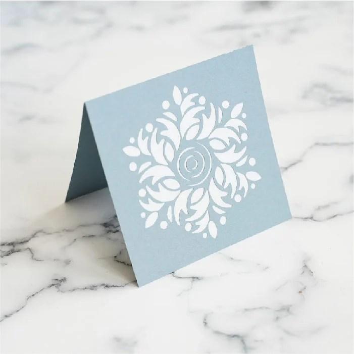Foliage wreath card