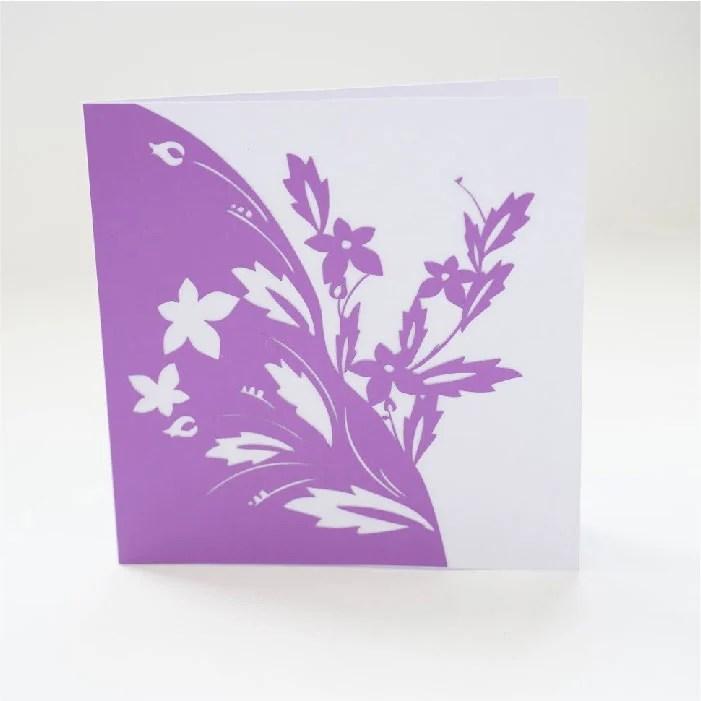 Half wild flower card