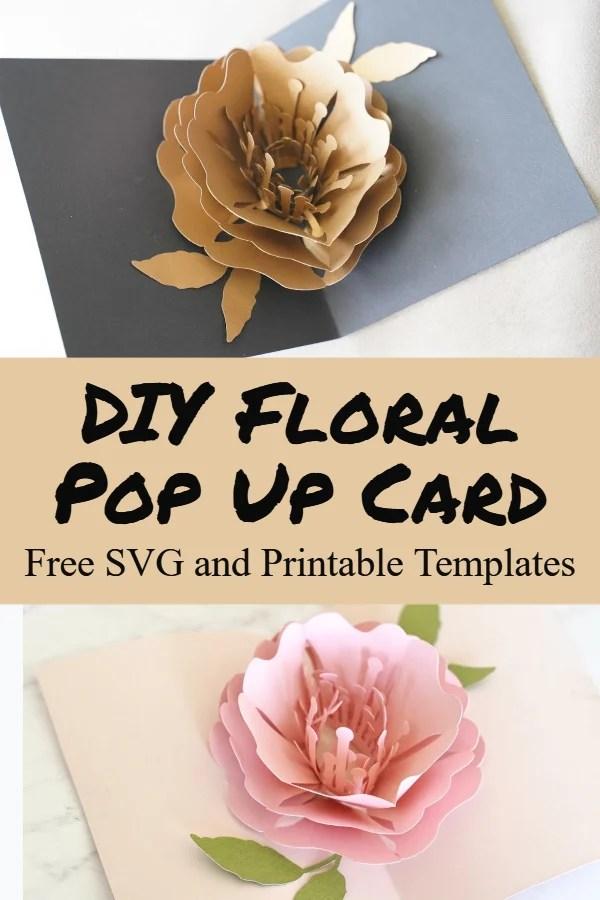 diy flower pop up card
