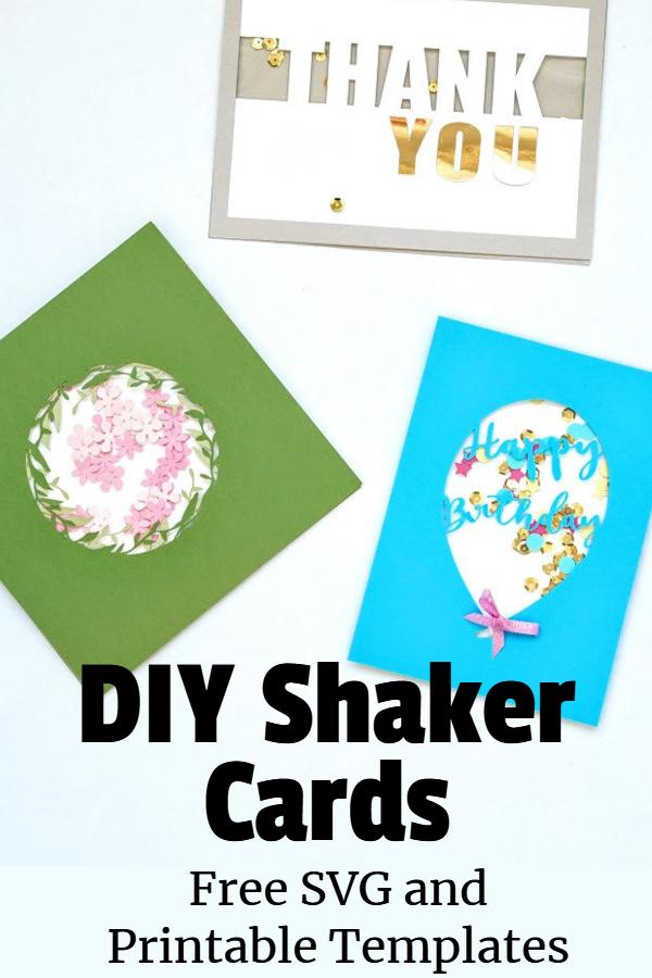shaker cards ideas