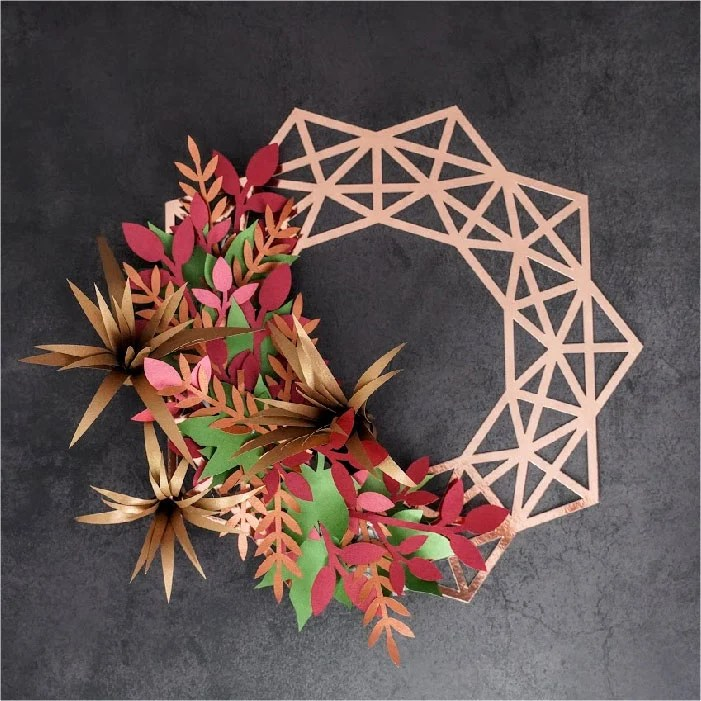 Fall geo wreath