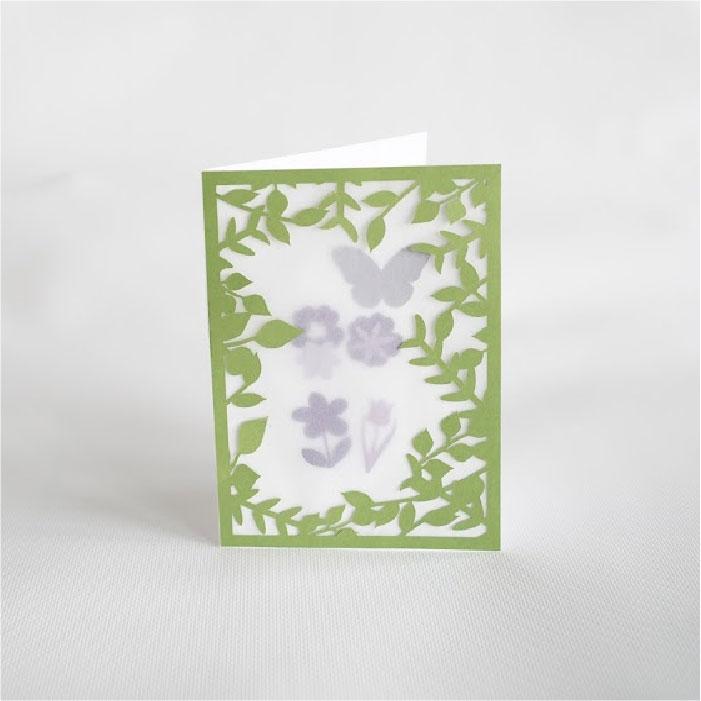 Foliage shaker card