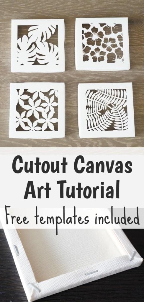 cut out canvas art